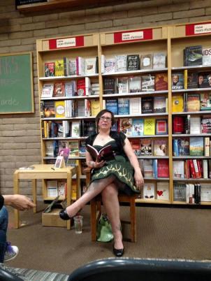 Sheri at her reading